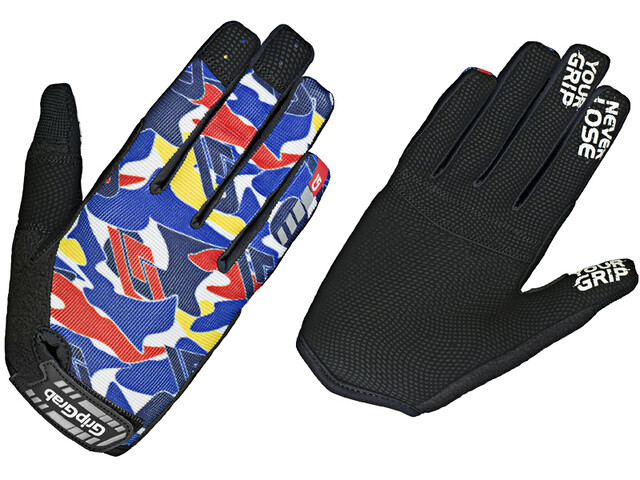 GripGrab Rebel Youngster Robuuste Handschoenen Kinderen, blue camo